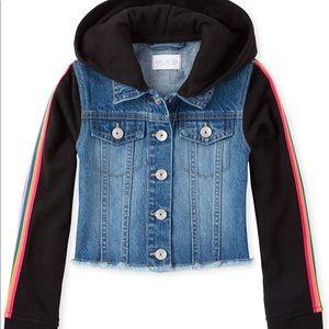 The Children's Place Girls Big Hooded Denim Jacket